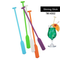 creative paddle shape Cocktail Picks drink stirring stick