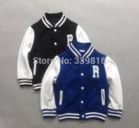 2014 Autumn & Winter Original Brand Toddler Boy's Classic Black/Blue Baseball Jackets for Children Sports Coat& Outwear
