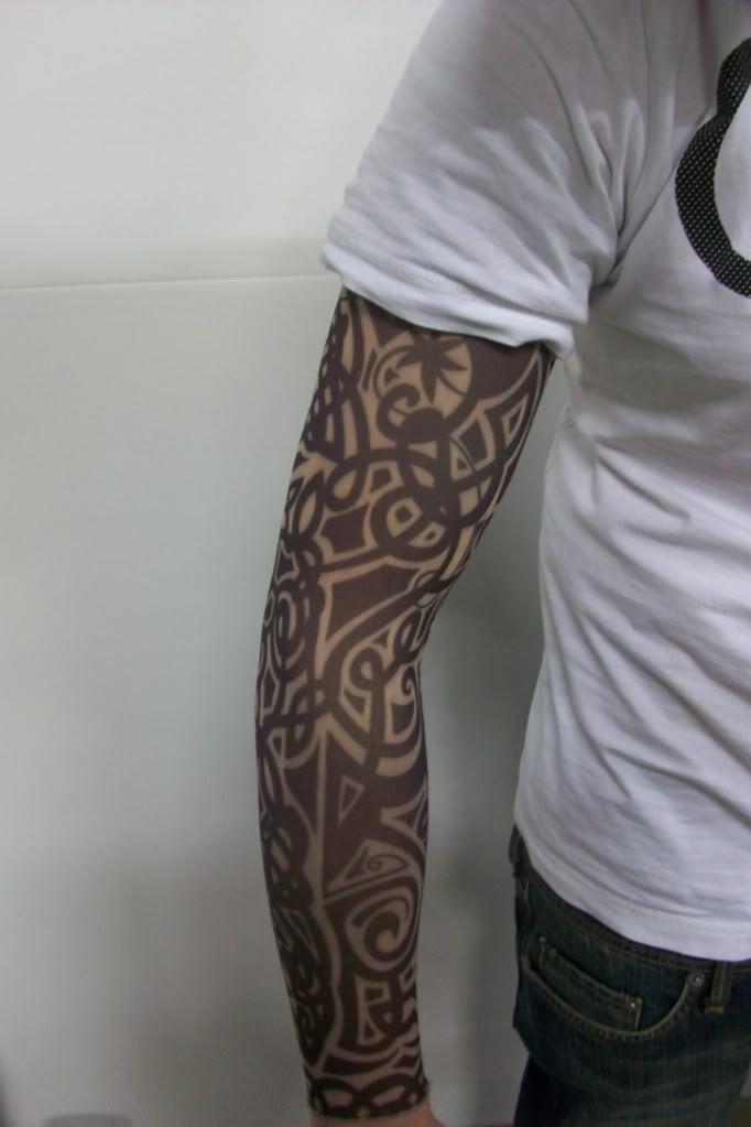Falso Tattoo Sleeve Pano Arm Arte - Projeto tribal(China (Mainland))