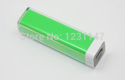 Colorful Portable Power Bank USB Charger External Battery free shipping(China (Mainland))