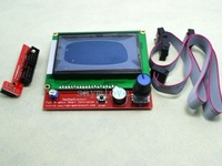Reprap RAMPS1.4 12864 LCD display controlle with adapter Mendel,Prusa 3D Printer