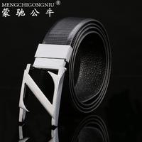 Fashion strap genuine leather male letter buckle belt women's lovers design belt