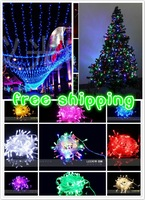 free shipping 10m LED luminaria, coloured flashing String lights Christmas Wedding party holiday Outdoor decoration twinkle