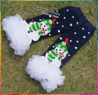 Snowman Pattern Leg Warmers Kids, Baby Christmas Legs,Girls Christmas Tights,Dark Blue Children Menina,#7A5511 5 pair/lot