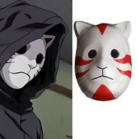 Naruto Cosplay Accessories Anbu's Mask Halloween Cosplay Costume Accessory Free Shipping