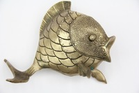 Chinese Bronze Statue  Fish Statue Decoration Crafts Collectible Decorated Old Handwork Copper Meaning Wealth On Sale!