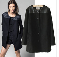 D-230 European and American super stars new luxury temperament long single-breasted long-sleeved high-quality women woolen coat