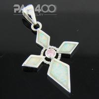 Pink Topaz White Fire Opal Silver Fashion Jewelry Women & Men Pendant OCP0167BC Wholesale & Retail