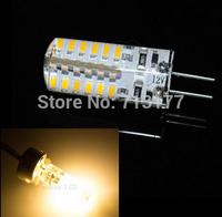 50pcs/lot  G4 light foot silicone light corn light leds 3014 48 SMD lamp bead 3W 12V Warm/Cool LED Corn Light Free shipping