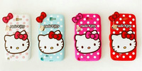 Free Shipping New 3D Cartoon Hello KT Soft Silicone Back Cover Case for Samsung Galaxy Note3 Neo Lite N7505 Soft Rubber Cases