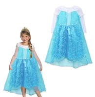wholesale frozen elsa dress 2014 new movie frozen costumes for kids european and american princess baby grils dresses