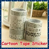 [FORREST SHOP] Cute Stationery Waterproof Cartoon Scrapbook Sticker / Kawaii Scrapbooking Tape / PVC Adhesive Tapes C018