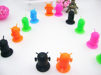 5pcs Free Shipping  Pure Silica Gel Android Robot Sucker Stand Holder for Car Mobile for Cell Phones