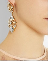 2014 New Arrivals Fashion Style Jewelry Celebrity flower  Earrings For Women 140722 Free Shipping