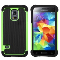 100pcs/lot Triple Heavy Duty Rubber Silicone Shock Proof  Case For Samsung Galaxy S5 Mini