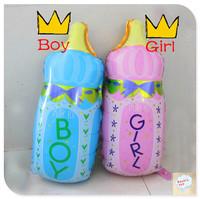classic toys.Milk Bottle aluminum foil balloon Large 70cm pink girl/ blue boy girl fashion balloon Big size 70cm!!