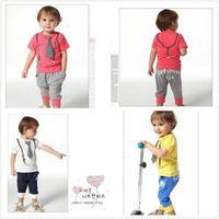 2PC New baby boy Top+short pants set summer suit boys outfits gentleman SZ:2-6T