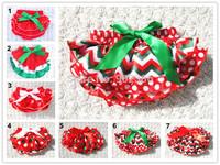 Newborn Baby Girls Christmas Holiday Satin Panties Ruffles Bloomers Diaper Covers Baby Bloomers NB-24M 6 Designs