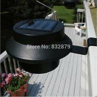 2 Pcs Black Super Bright Yard Lamp Solar Panel Garden Light 3 LED Lights Outdoor Home Decor Deft Design Garden Solar Light