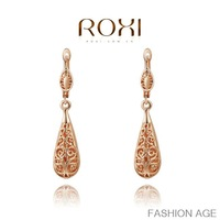 ROXI fashion new arrival, genuine Austrian crystal,Hollow out eardrop, trendy earrings for womenChrismas /Birthday gift