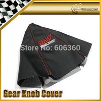 For SUBARU Red STI PU Leather Gear Shift Knob Cover Gaiter Sleeve Glove Collars For SUBARU GRB BRZ IMPREZA