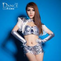 Silver tassel space warrior bar DS Costume New Sexy nightclub singer Dame of fashion arena