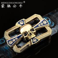 Skull belt male women's strap personalized genuine leather belt male