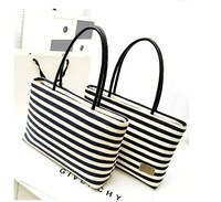 Women  Fashion New Stripe Canvas Bag