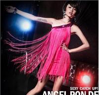 Fashionable nightclub bar singer costume DS sexy dance wear shoulder tassel stage.