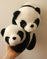 2pc 26cm Kawaii Cute Souvenir Panda Stuffed Animal Plush Toy Soft Doll For Couple Wedding Car Decoration Birthday Gift Brinquedo