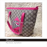 Children bags bag trend girls aged father to birdie the same paragraph where Wang Shi simple handbag shoulder bag