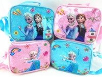 Wholesale 10pcs/lot 2014 new Fashion Frozen Lunch Bags frozen Cartoon School Lunch Box for kids free shipping