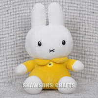 "CUTE BUNNY PLUSH STUFFED TOYS 12"" SOFT RABBIT IN YELLOW MIFY"