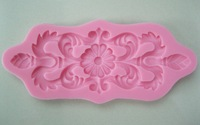 Beautiful Flower shape  Chocolate Candy Jello 3D silicone fondant lace Mold Mould cake decoration/pastry tools-C301