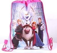 Wholesale 50pcs/lot 2014 new arrival frozen Prince Hans non-woven string backpack children's school shoe toy bag school bag