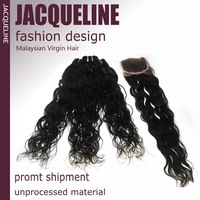"3Pcs Queen Natural wave with 1pcs Lace Closure of  6A Malaysian Top quality Rosa hair 4pcs/lot Mix 12""-30"" free shipping by DHL"