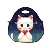 Cats Soft Neoprene Travel Picnic Food Insulated Lunch Tote Cooler Bag Handbag\Lunch Tote Cooler Bag Handbag