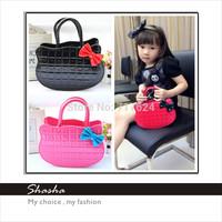 2013 New Hello Kitty Children Velvet bag diagonal package bag handbag chest bags purses shoulder bagsTong Plaid