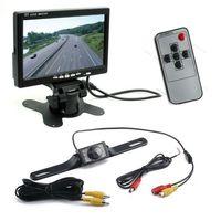 "Free Shipping!Newest 7"" TFT LCD Monitor+ Waterproof IR Reverse Car Rear View Backup Camera Kit"