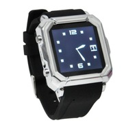 Smart Watch I900 Bluetooth WristWatch Sync Call SMS Anti-lost for Android Silver Black Color Free Shipping