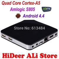 Amlogic S805 TV Box Quad-Core Cortex-A5 Mali-450 XBMC Android 4.4.2 H.265 HDMI 1.4b with CEC EM5 Android TV Box