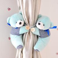 1 pair Cute Cartoon BEAR Curtain Buckle Tieback Hoop Decoration Holder Decorative Animal Home Decor Accessories for Kids Craft