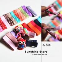 Sunshine store #8z064 100pcs/lot Polka DOT Hair Clip Single Prong Alligator Baby Girl hairpins tiara DIY children accessories