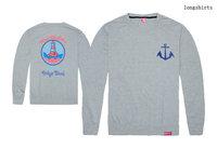 Holiday Sale Men's clothing Pink dolphin full sleeve tee shirts mens hip hop long t shirt Casual Tees Camisas O-Neck clothing