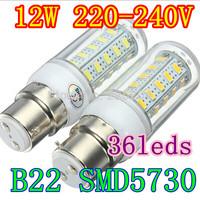 Big bayonet 5730smd LED Bulb Lamp 220v-240V 1000LM White,Warm White Led Spotlight Free Shipping