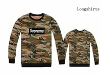 New style man's camouflage long T shirts boy hiphop street galaxy leopard tee tops brand name men's Supreme t-shirt camo clothes
