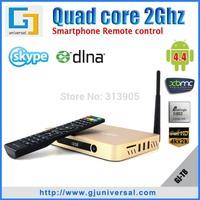 T8 Smart TV Box quad-core Amlogic S802 2Ghz  2GB+8GB Wi-Fi 4K Android 4.4 XBMC full load with Arabic Channels Miracast