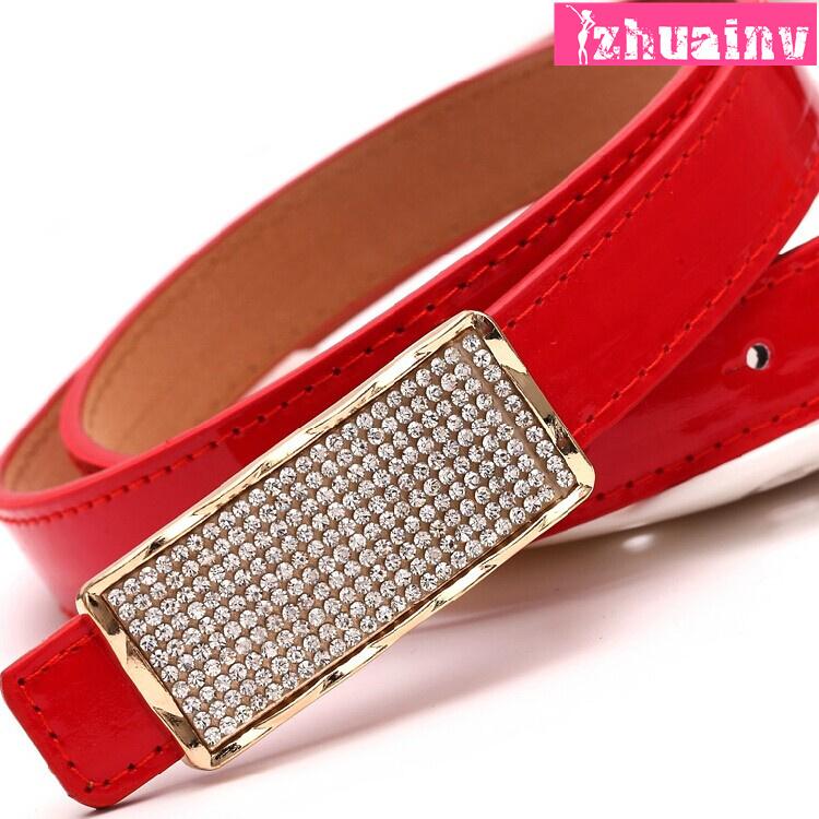 Patent leather thin belt lady waist belt wide belt European and American all-match fashionable dress accessory leather belt(China (Mainland))