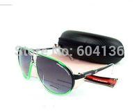 FREE SHIPPING NEW Fashion Sunglasses men's Womens Sunglasses Black+green color