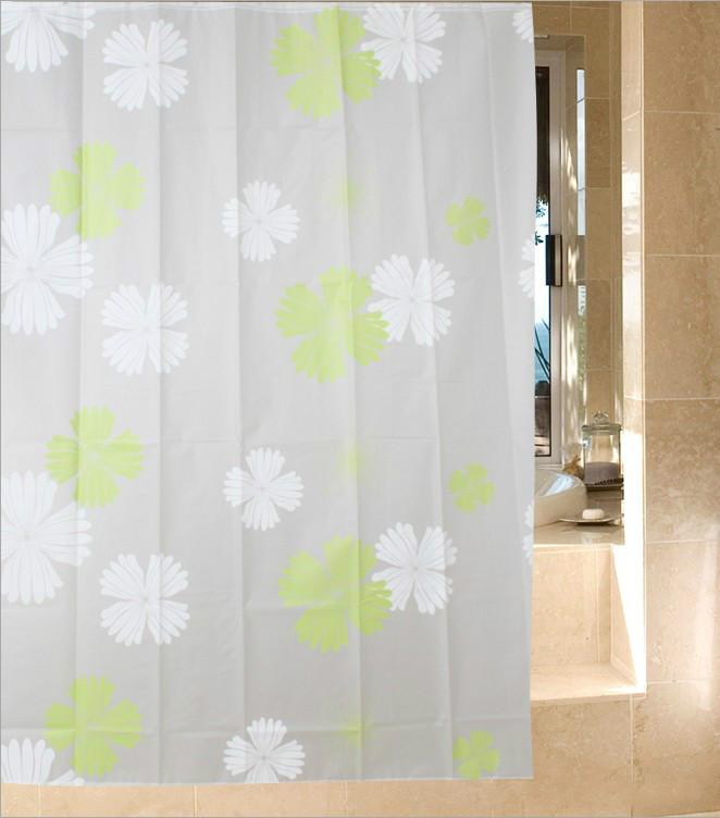 Cortinas De Baño Quality: cortina de baño espesar moda flores ojal impermeable moho cortinas de